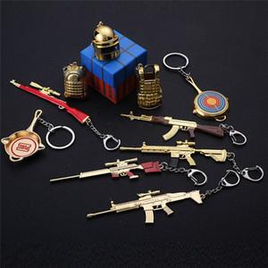 Jedi Survival Keychain 98K Металлоизделия Модель оборудования Key Ring Ешь Chicken Key Chain Game периферийными Подарки