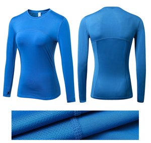 Woman long sleeve t shirt PRO fitness solid color quick dry women tees t-shirt sportswear women t-shirt