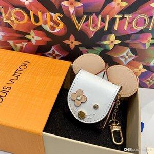 Luxe porte-clés sac boîte de casque boîte de casque pendentif de mode petit pendentif voiture cuir Keychain mignon pendentif multifonctionnel pratique