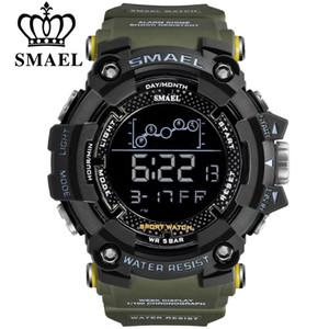 SMAEL Nueva Moda LED Digital Reloj Deportivo Al Aire Libre Hombres Multifunción Impermeable 30 M Marca Militar Reloj de Pulsera Para Hombre