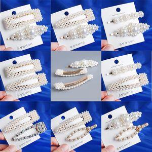 Moda 8 Estilos Das Mulheres ABS Pérola Imitação de Cabelo Grampo de Cabelo Barrette Vara Hairpin Hair Styling Acessórios artesanais Para Meninas 10 conjunto / 20 pcs