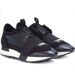 2019 Luxus-Designer-Turnschuh-Mann-Frauen-beiläufige Schuh-echtes Leder Spitzschuh Race-Gitter-Läufer-Schuh-draußen-Trainer mit dem Kasten US5-12