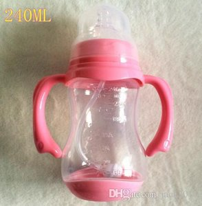 Arriving 150,240,320Ml Baby Feeding with Handle Standard Caliber Nursing Bottle Breast Milk Bottle Nipple