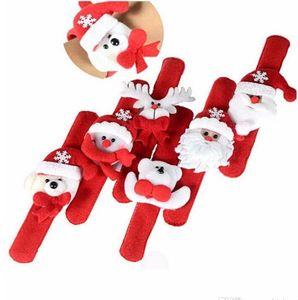Рождество милый Пощечина браслет Рождественская вечеринка декор Пэт круг кольцо для рук рождественские украшения подарки круг ручной работы творческий браслет