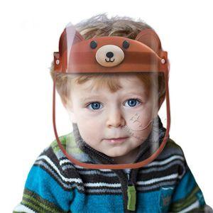 US STOCK, Kids Face Shield Mask Child Anti Spitting Isolation Full Protective Masks Children Facial Protection Visor Plastic TRansparent