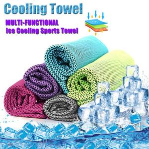 Arrefecer instantâneo Toalha de refrigeração Enduring Fria Exterior Corredor da ginástica Chilly Pad Esporte Ice Jogging Yoga 88 * 33 centímetros
