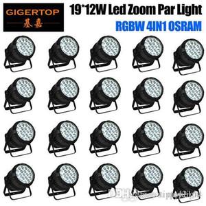 REE 배송 20PCS / 부지 방수 LED 파 19x12w RGBW 4IN1 줌 LED PAR 라이트 파 캔 IP65 야외 무대 조명 DMX512 제어 자동 수동