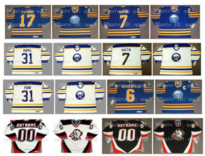 Buffalo Sabres de la vendimia jerseys 17 Mike Foligno 7 RICK MARTIN 31 DAREN puppa 31 Grant Fuhr 6 Jim Schoenfeld encargo cualquier Nombre Número de hockey
