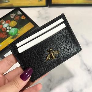 moda europea y americana Mini cuero simple abeja corta plegamiento lindo Corea piel de vaca carpeta de las mujeres de la carpeta