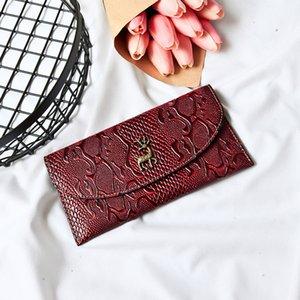 Lady bags package wallet 2019 Wallet Female Long Thin Section Minimalism Deer Head Minimalism Trend Wallet Card Package w7