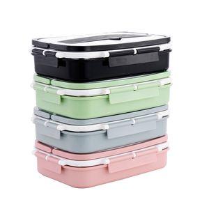 Siegelbüro-Brotdose-Edelstahl Porable Schule Tiffin packt multi Farben-Nahrungsmittelorganisator-hohe Kapazität 21 5ql E1 ein