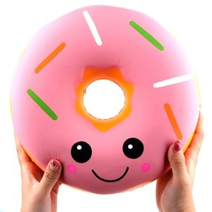 Simulated Cartoon Big Donut Toy Decoration Slow Rebound Decompression Toy Foam Relaxed Toy Cake Sample Model