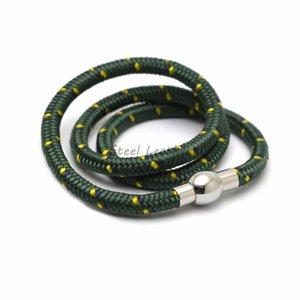 10pcs lot nylon rope Bracelet For Men Hand Charm Jewelry Multilayer Magnet Handmade Gift For Cool Boys Nylon Wrist