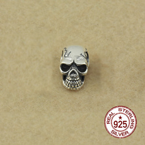 100% S925 sterling silver beads personality fashion classic jewelry skull shape DIY accessories to send lover gifts 2018 new hot