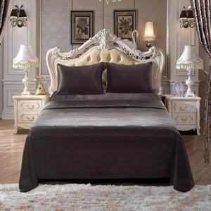 الفاخرة الساتان الحرير ملاءة سرير لينة الملكة الملك ملاءة سرير مجموعة البوهيمي أغطية المنسوجات المنزلية ورقة مجموعة