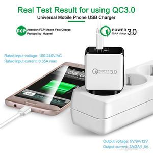 QC 3.0 Carga rápida USB 5V 3A Cargador de pared + 3FT 2A Cable de datos USB QC 3.0 Cargador rápido de pared EE.