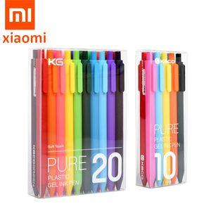 Original Xiaomi Mijia Kaco Sign Pen PREMEC Smooth Refill 0.5mm Signing Pen Mi Colorful Pens add Blue Black Red Refill ink