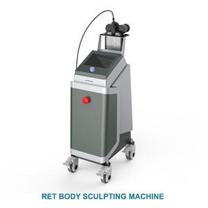 Zwei Griffe RET RF-Technologie Kühlung und Heizung RF Refraktion Stiefel Pressotherapy Lymphdrainage abnehmen Maschine