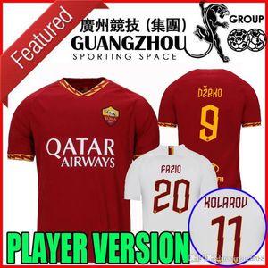 Player-Version 19 20 roma Fußball-Trikot 2019 2020 zu Hause weg Maglie da calcio DZEKO TOTTI KOLAROV PEROTTI FAZIO Florenzi Fußballhemden