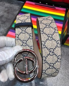 kutu kemerler kadın kemerleri ile altın gümüş toka tuval deri erkek kemer genişliği moda 4,0 cm KGDHX 8449 411924 Kargo Ücretsiz