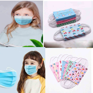 face mask cloth pm2 5 filter Children's Disposable Face Mask Cartoon Child Kids 3 Layer Ply Mask Earloop Non-Woven Fabric DHL Shipping