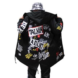 TANG 2019 Otoño capa de la chaqueta de bombardero China han Hip Hop Swag de la estrella Tyga prendas de vestir exteriores abrigos