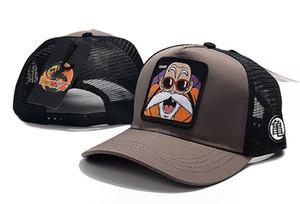 أنيمي قبعات البيسبول الشباب الرجال النساء أقنعة الصيف شبكة الشمس القبعات المطرزة التنين الكرة عارضة كاب قبعة goku الأزياء الكرة قبعة