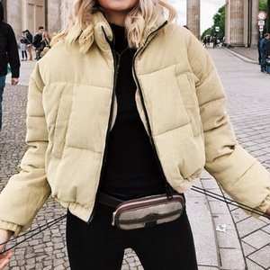 Women Casual Jacket corduroy thicken parka overcoat Winter warmly fashion outwear coat student's oversize streetwear Cotton wadded clothes