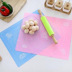 실리콘 반죽 국수 식사 패드 두껍게 단색 테이블 매트 큰 내열 베이킹 매트 식품 학년 8 3zm E1