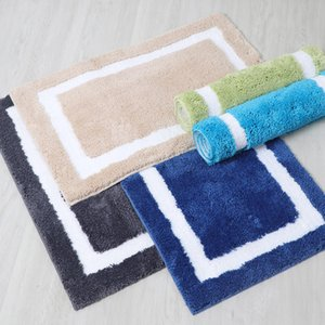 Tapete simples de volta tipo flocking flocking chão mat sala de estar quarto super fibra antiderrapante absorvente pé tapete tapete