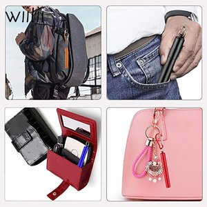 Wiilii télescopique en métal réutilisable Pailles Pliable en acier inoxydable Boisson paille portable télescopique avec nettoyage Brosse Case