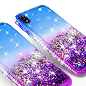 For Iphone 12 Pro Max Fashion Diamond Liquid Quicksand Design Bling Shock Resistant Phone Case Cover
