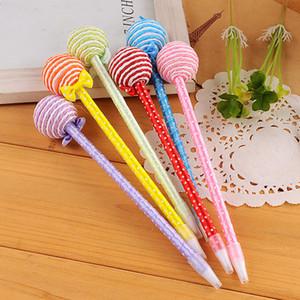 Kawaii bowknot مصاصة نمط مكتب الأقلام لتعزيز القلم القرطاسية المدرسية الكرة القلم للطلاب 24 قطعة / الوحدة لوازم الكتابة
