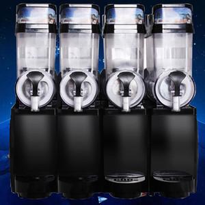 2020 Ticari Slush Buz Makinesi ile dört tankları Makinası Kar Melt Yapımı 1.5L * 4