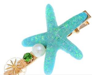 Moda kadın tasarımcı sıcak satış denizyıldızı firkete yıldız kelime klip saç aksesuarları