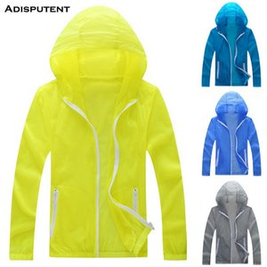 Drop shipping Adisputent 2019 fashion new trend men's solid color sunscreen outdoor quick-drying clothes