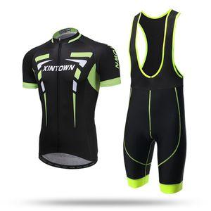 XINTOWN 2020 Sunmmer Anti-UV-Fahrrad-Radtrikot Set Fahrradbreathable Body Suit Quick Dry Gel Pad Mtb einen.Kreislauf.durchmachenClothing Sport