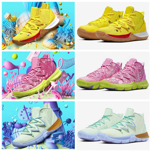 2020 Designer Kyrie Sponge X Kids Big boys girls Basketball Shoes 5 Trainers Kyrie Irving 5s Squidward Mountain Patrick Children Sneakers