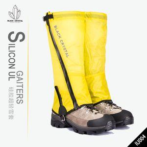 Black Crystal Professional Waterproof Legging Gaiter Leg Cover Camping Hiking Hunting SILICON UL GAITERS