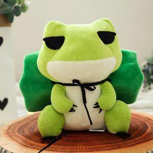 Путешествия лягушка кукла лягушки с шляпой плюшевые мягкие наполнитель игрушки подарок для детей 20-25 см путешествия лягушка плюшевые игрушки куклы