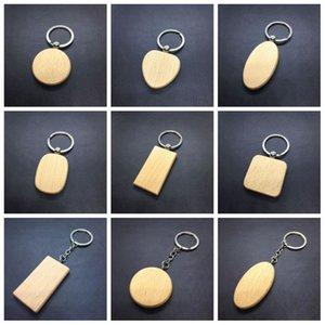 Vendita calda personalizzato vuoto di legno Portachiavi Irregolarità Cuore forma rotonda da regalo chiave di legno Buckle bambini Portachiavi 1 45rt H1