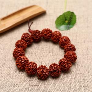 Nepal Diamant Bodhi-Diamant-Armband fünf Blütenblätter 14mm Bodhi Perlen Rosenkranz Armband