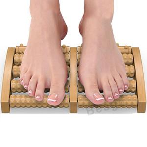 5 Сырье Деревянные Foot Roller Массаж Wood Care Массаж Рефлексология Relax Relief Массажер Spa подарков Антицеллюлитный массажер ног DBC BH2743