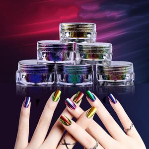 Super Chameleon Mirror Powder Manicure For Nail Art Design Brocade Chrome UV Gel Polish High Quality Glitter Pigment Dust 6color