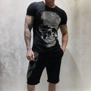 PP Rock tarzı Yaz Erkekler Tasarımcı Tişörtlü Elmas Kafatası Marka giyim moda tişörtleri Kadınlar tişört kaliteli Hip Hop Tişörtler 201916
