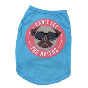 """Pet Clothes Vest Dogs Cat Summer Breathable """" Can't See The Haters"""" Apparel Comfort For Small Medium Dog New Arrival 2018 A#"""