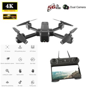 2020 NEW GPS Drone KF607 with 5G WIFI FPV 4K HD Camera Optical Flow Following Foldable Quadcopter 2.4G 1080P Camera