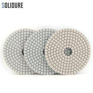 3pcs / set 100mm 4 inch dry or wet diamond 3 step polishing pads diamond polishing disc for granite marble concrete