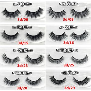 1Pair Set Eyelashes 3D Mink False Eye Lashes Natural Handmade Volume Cilia Soft Long Eyelash Extension Support To Customized OEM