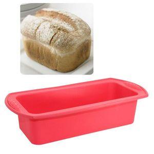 Torradas Pão Molde Retângulo Em Forma De Silicone Bolo Molde Loaf Pastelaria Baking Bakeware Bolo DIY Antiaderente Pan Baking suprimentos